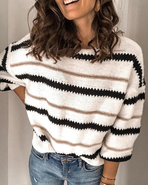 Cozy Striped Loose Warm Sweater