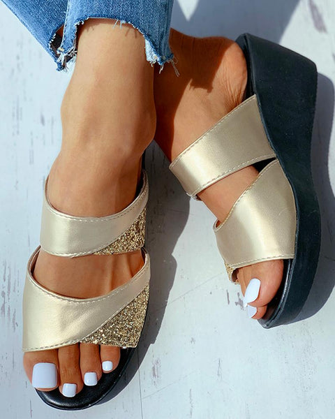 Studded Open Toe Heeled Sandals