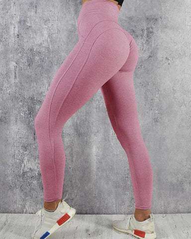 Solid High Rise Training Leggings