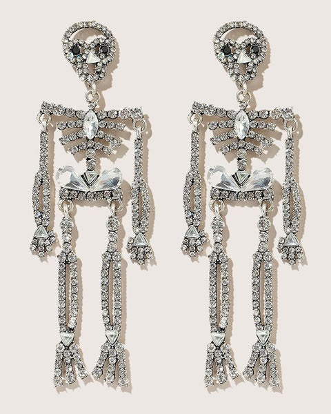 Halloween Skeleton Pattern Studded Earring