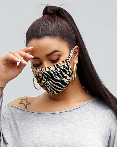 Leopard Print Breathable Mouth Mask Washable And Reusable