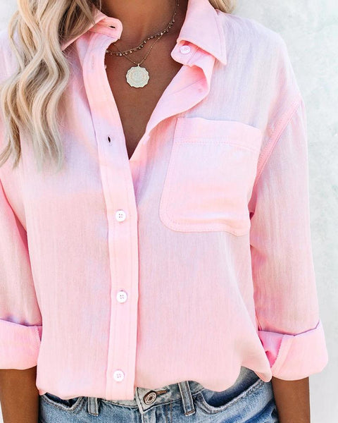 Solid Color Long Sleeve Shirt