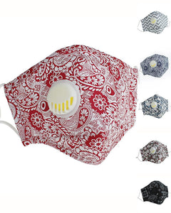 Paisley Print Valve Breathable Mouth Mask