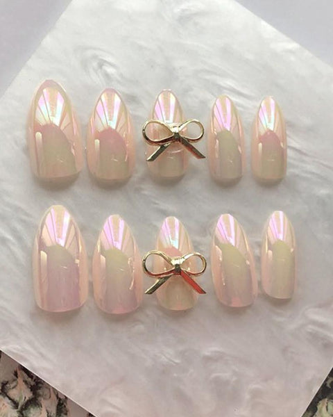 Dazzling Bow Nail Patch Sets