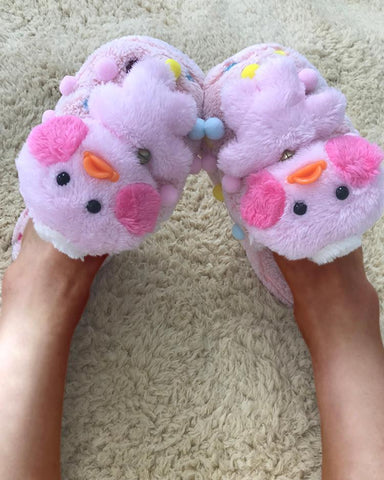 Cute Pom Pom Decorated Flat Slippers