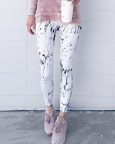 Graffiti Print Casual Yoga Leggings