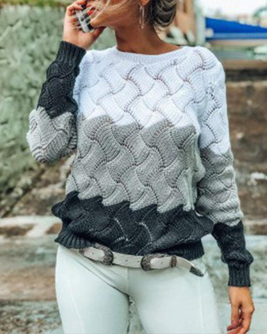 Comfy Colorblock Winter Wear Sweater