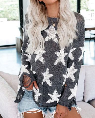 Round Neck Casual Knitting Sweater
