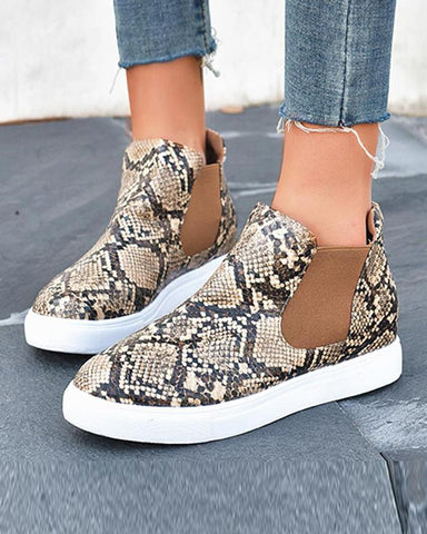 Slip-On Flat Ankle Boots