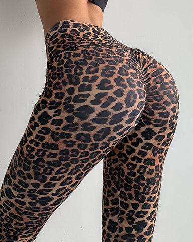 Leopard Print High Waist Yoga Pants