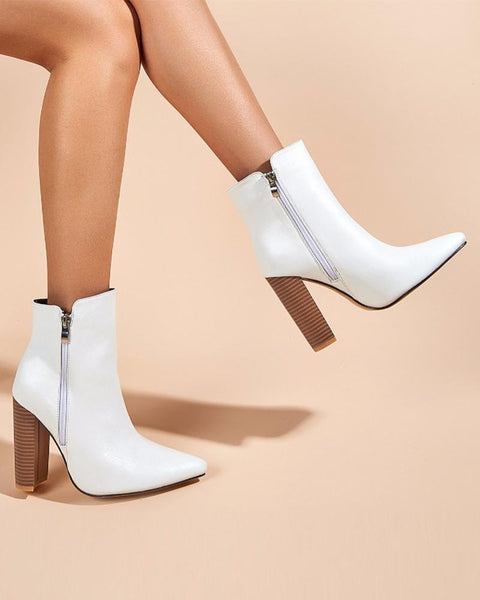 Solid Color Pointed-toe High Heels Boots