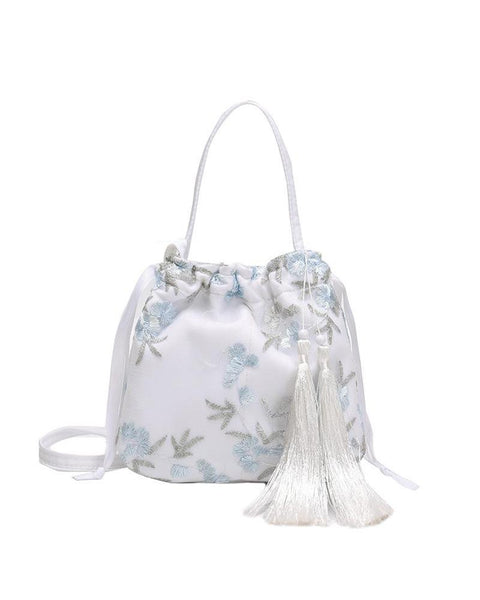 Embroidery Tassle Crossbody Bag