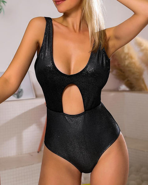 Cutout Open Back One-Piece Swimsuit