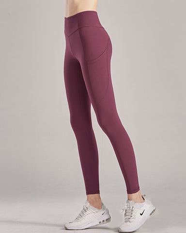 High waist hips running tight stretch sports fitness pants