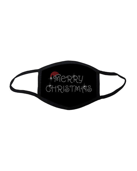Christmas Letter Pattern Studded Breathable Face Mask