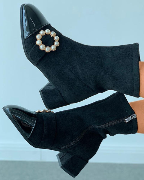 Beaded O-Ring Chunky Boots