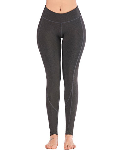 Solid Skinny Yoga Fitness Pants