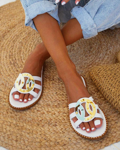 Casual Roman Peep Toe Flat Sandals