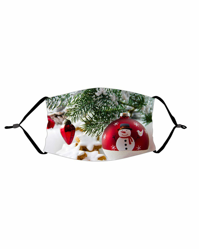 Christmas PM 2.5 Earloop Face Mask With Fliter For Adults