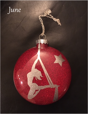 Aerial Silks Ornament - June