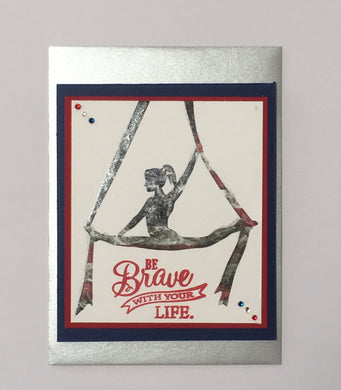 USA Flag Be Brave With Your Life - Glimmer