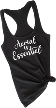 Load image into Gallery viewer, Black Aerial is Essentials racerback tank