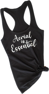 Black Aerial is Essentials racerback tank