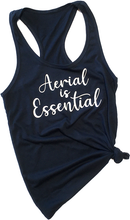 Load image into Gallery viewer, Navy Aerial is Essentials racerback tank