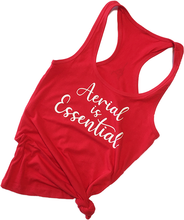 Load image into Gallery viewer, Red Aerial is Essentials racerback tank