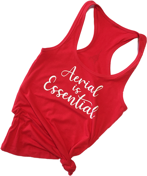 Red Aerial is Essentials racerback tank