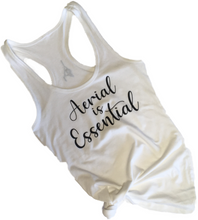 Load image into Gallery viewer, White Aerial is Essentials racerback tank