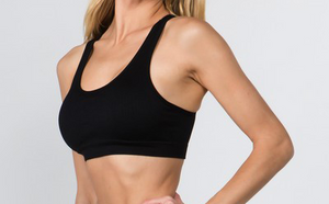 Cutout Back Sports Bra