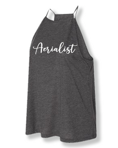 Heather grey aerialist high neck tank