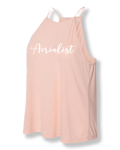 Peach aerialist high neck tank