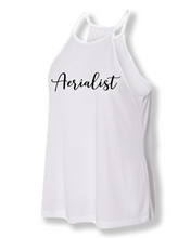 Load image into Gallery viewer, White aerialist high neck tank