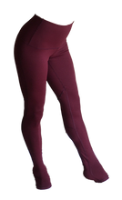 Load image into Gallery viewer, Maroon aerial leggings