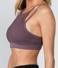 Load image into Gallery viewer, Mesh Overlay Sports Bra - Light purple