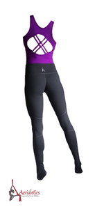 Purple & Grey Aerial Practice Jumpsuit