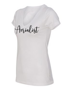 Aerialist V-neck t-shirt in white