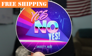 """YES NO YES!"" Sticker"