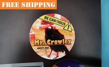 "Load image into Gallery viewer, Mr. Crowley ""BE CAWTIOUS"" Sticker"