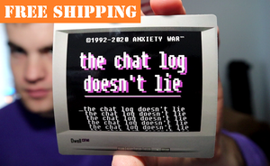 """the chat log doesn't lie"" Sticker"