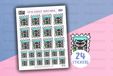stamp meeko planner stickers