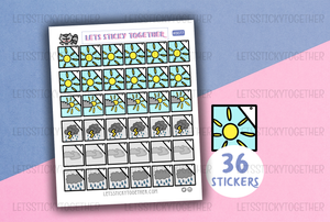 weather 1 planner stickers