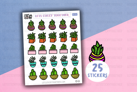 indoor plants planner stickers