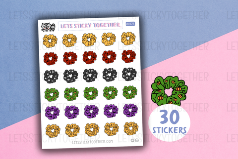 fall hair scrunchies planner stickers
