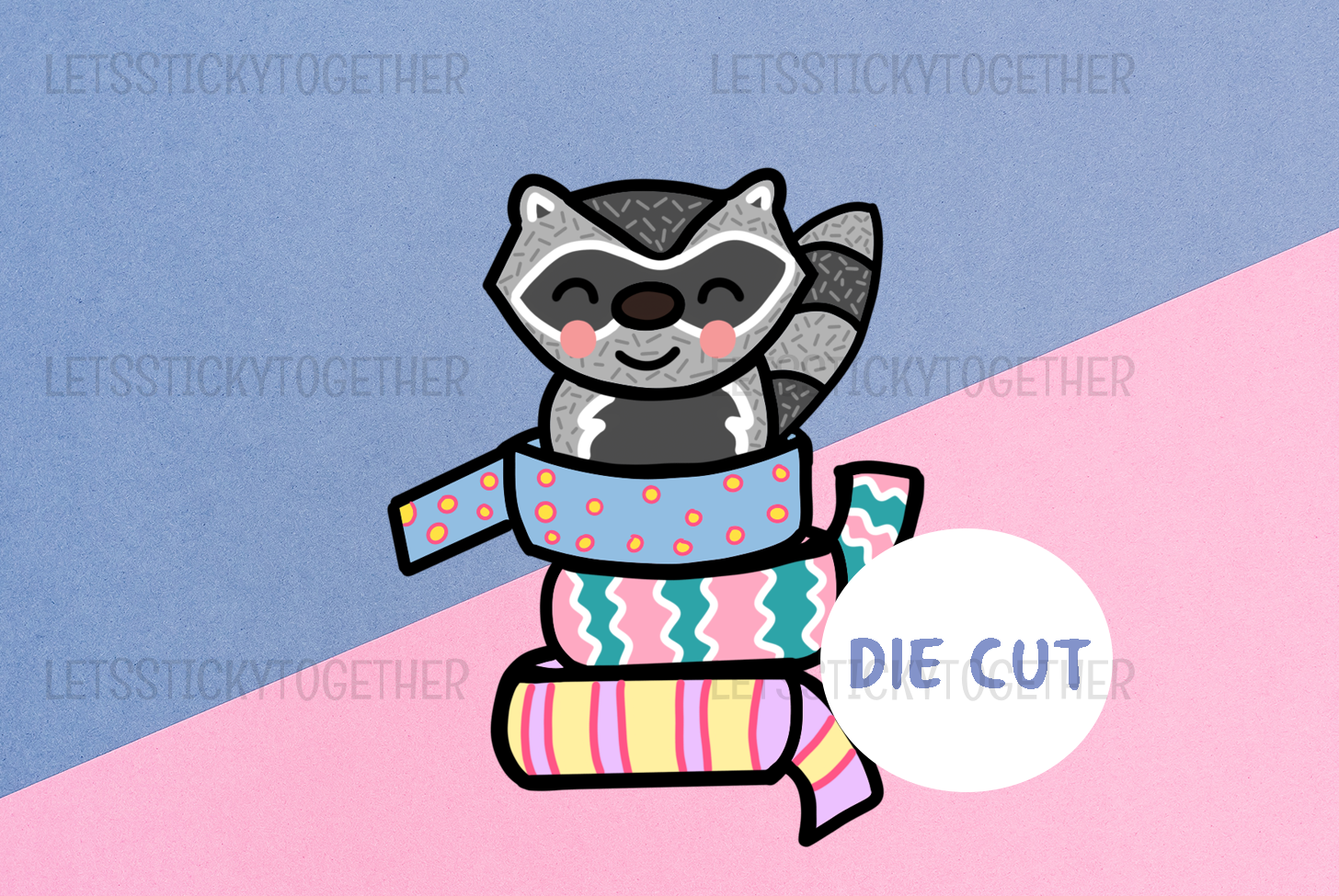 Meeko Washi 3 Die Cut Sticker