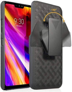 LG G7 / G7 ThinQ RomeTech Shell Holster Combo Case - Black