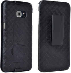 Samsung Galaxy S6 Edge Plus Case with Belt Clip - Shell Holster Combo - Black