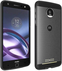 Motorola Moto Z Droid (1st Gen - 2016) Rome Tech Bumper Case - Black / Grey